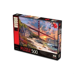 Puzzle 500 Sunsetat Golden Gate 11374