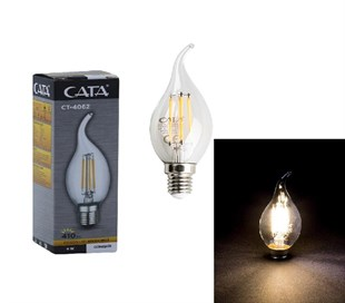 CataCata Ct-4062 5w Led Filament Kıvrık Buji Ampül / 8680998208835